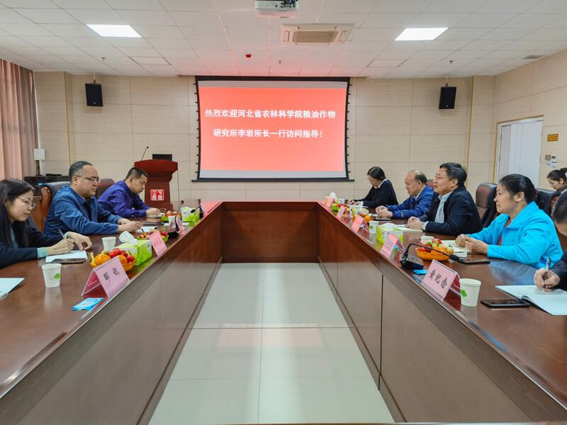 李岩所长带队赴河南省农业科学院芝麻研究中心考察学习