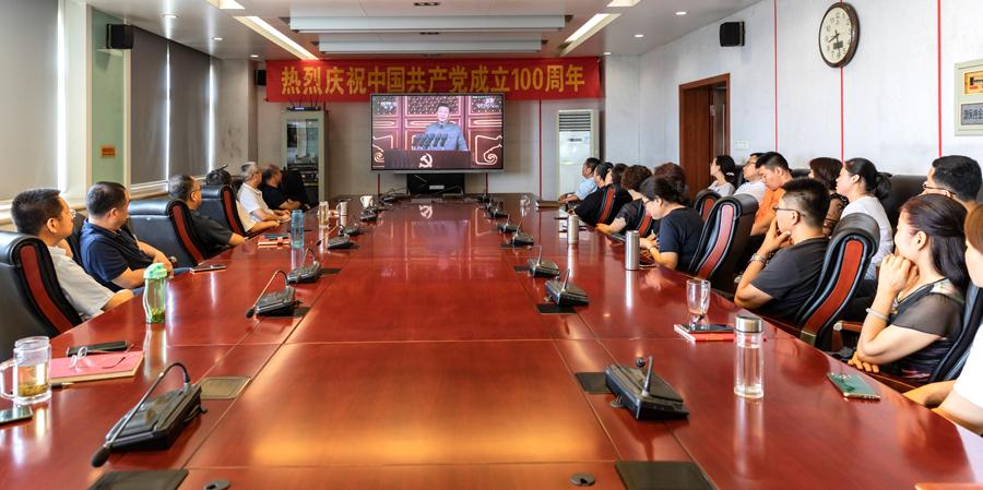 我所组织党员干部职工集中收看 庆祝中国共产党成立100周年大会