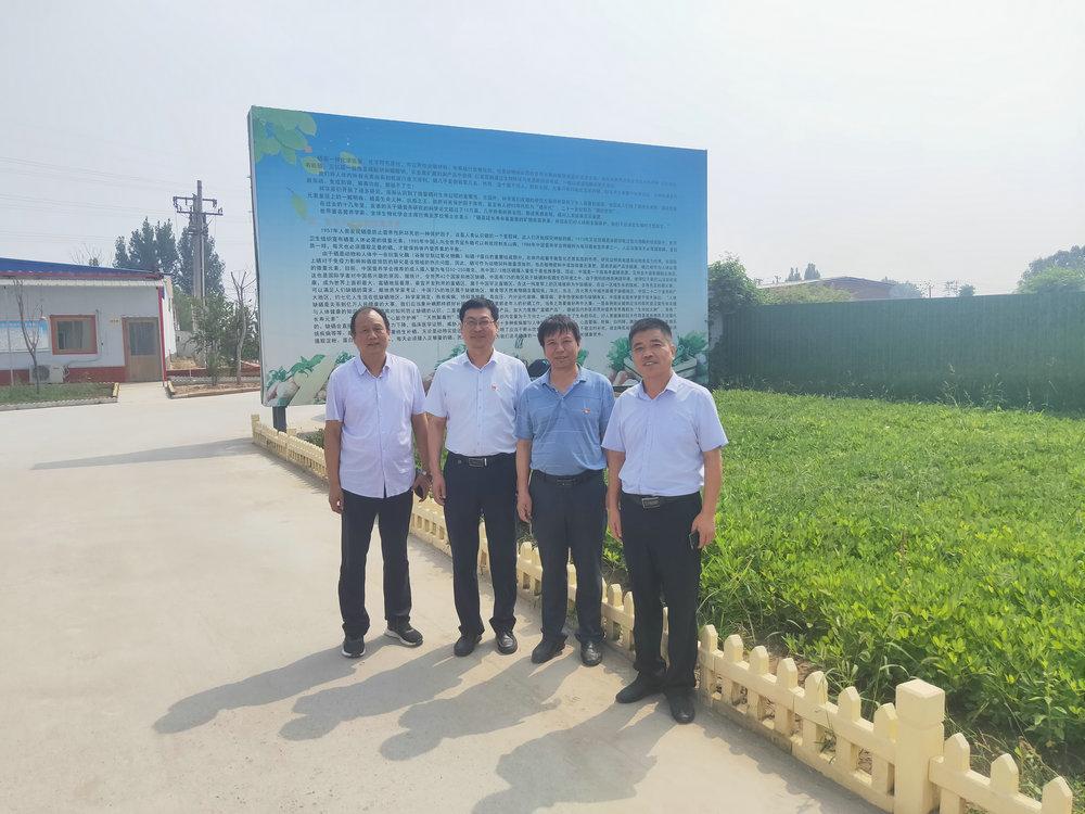 我所与邢台市柏乡县就优质麦U80 示范基地建设开展交流对接活动